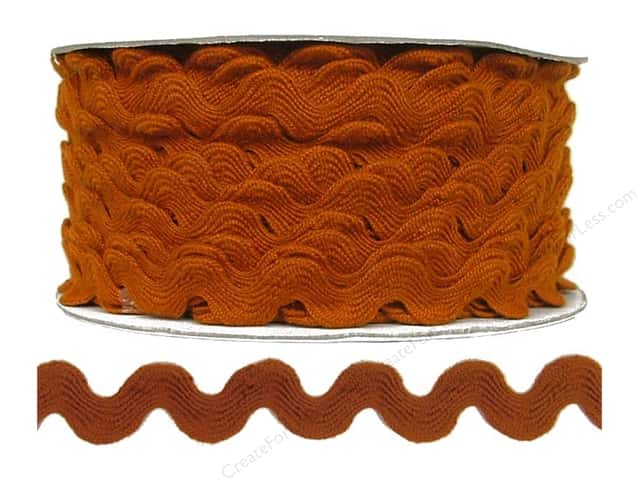 Cheep Trims Ric Rac 11/16 in. Rust