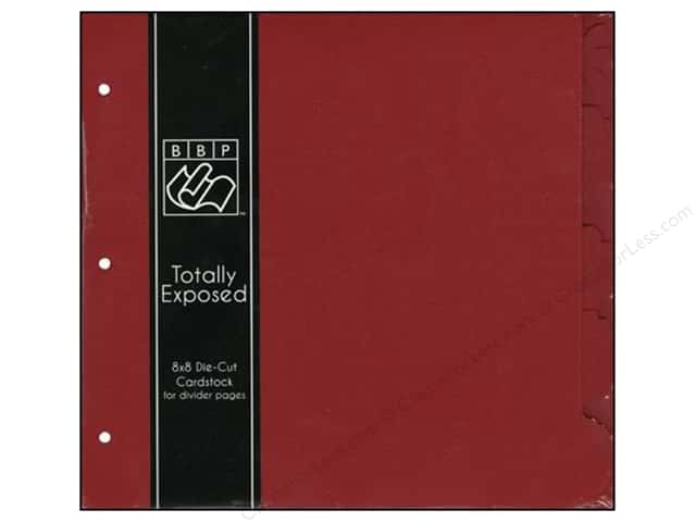 """Bazzill Cardstock 8""""x 8"""" Totally Exposed Divider Ruby Slipper"""