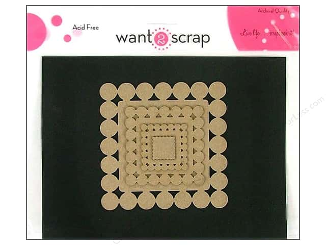 Want2Scrap Nestaboard Spellbinders Squares Beaded