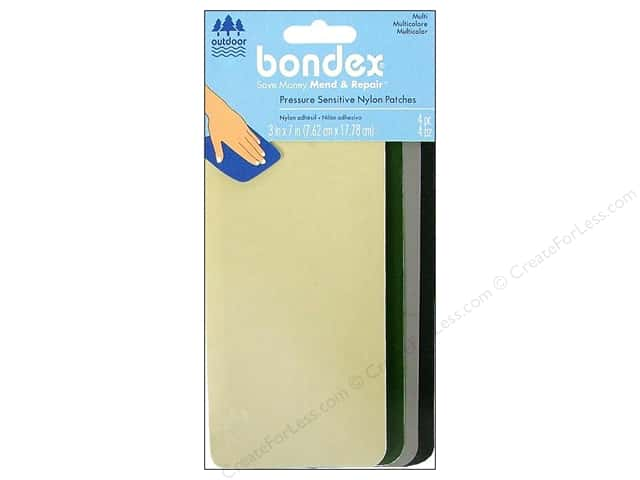 Bondex Adhesive Nylon Patch 3 x 7 in. Multi Dark 4 pc.