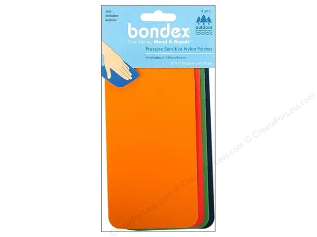 Bondex Adhesive Nylon Patch 3 x 7 in. Multi  4 pc.