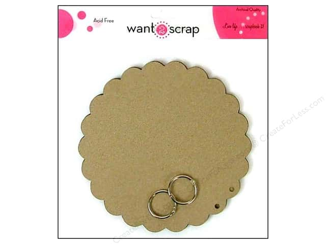 Want2Scrap Album Grand Spellbinders Circles Scallop