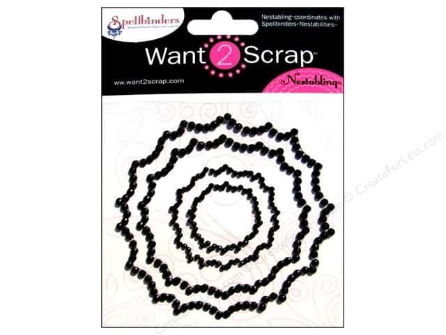 Want2Scrap Sticker Spellbinders Peony Black