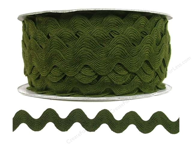 Cheep Trims Ric Rac 11/16 in. Moss