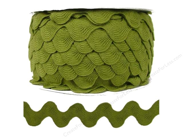 Ric Rac by Cheep Trims  1 in. Olive (24 yards)