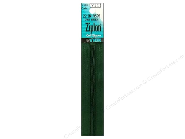 YKK Ziplon Coil Zipper 22 in. Dark Green