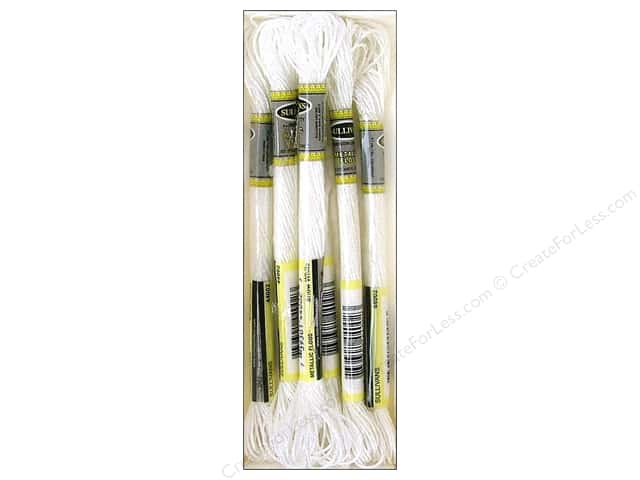 Sullivans Six-Strand Embroidery Floss 8.7 yd. Metallic Snow White (6 skeins)