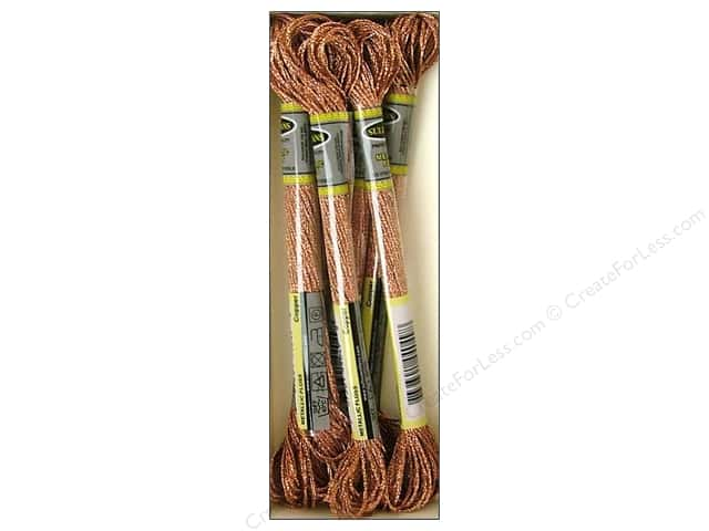 Sullivans Six-Strand Embroidery Floss 8.7 yd. Metallic Copper (6 skeins)