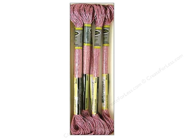 Sullivans Six-Strand Embroidery Floss 8.7 yd. Metallic Rose (6 skeins)