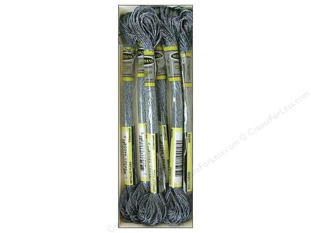 Sullivans Six-Strand Embroidery Floss 8.7 yd. Metallic Charcoal (6 skeins)