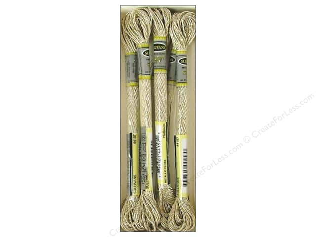 Sullivans Six-Strand Embroidery Floss 8.7 yd. Metallic Platinum (6 skeins)
