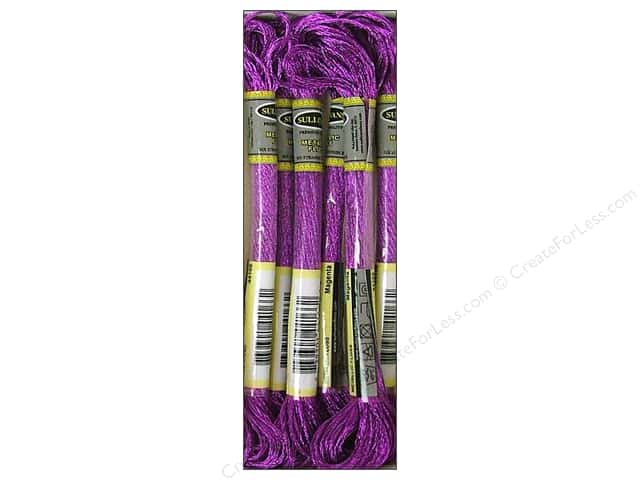 Sullivans Six-Strand Embroidery Floss 8.7 yd. Metallic Magenta (6 skeins)