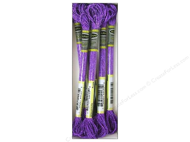 Sullivans Six-Strand Embroidery Floss 8.7 yd. Metallic Purple (6 skeins)