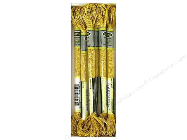 Sullivans Six-Strand Embroidery Floss 8.7 yd. Metallic Dark Gold (6 skeins)