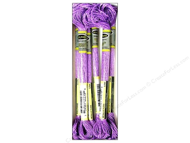 Sullivans Six-Strand Embroidery Floss 8.7 yd. Metallic Lilac (6 skeins)