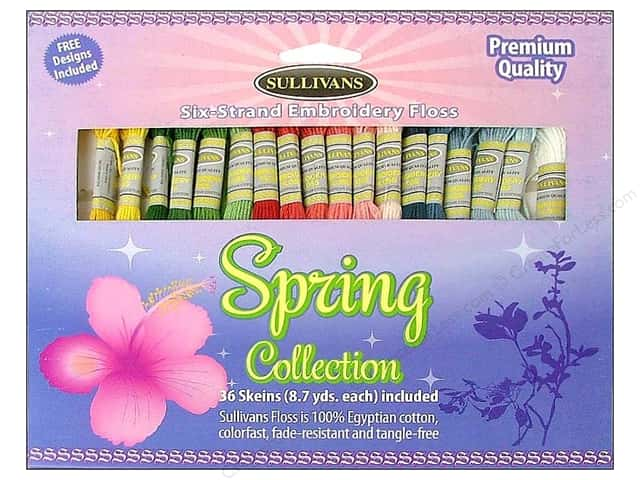 Sullivans Embroidery Floss Pack 36 Skeins Spring