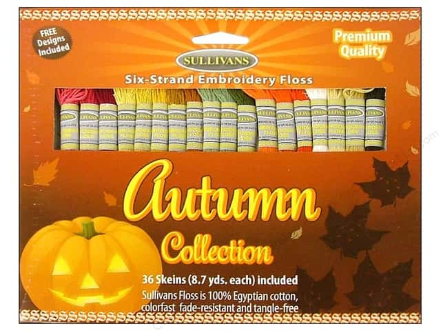 Sullivans Embroidery Floss Pack 36 Skeins Autumn