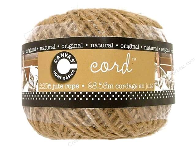 Canvas Corp Jute Cord Ball 225 ft. Natural