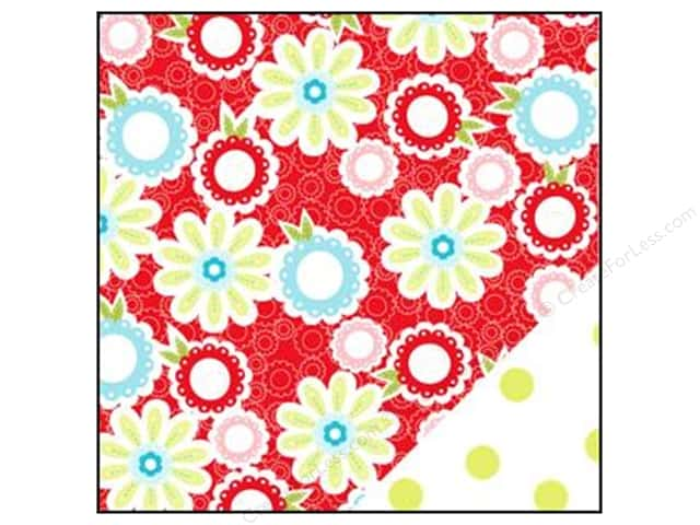 Bazzill 12 x 12 in. Paper Divinely Sweet Tisket A Tasket Red/Green Dot 25 pc.