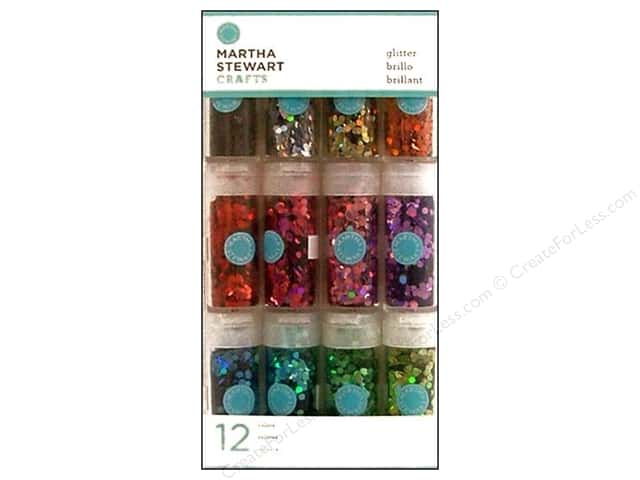 Martha Stewart Glitter Iridescent Hexagonal 12pc