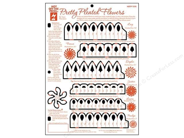 Hot Off The Press Templates Pretty Pleated Flowers