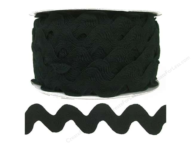 Ric Rac by Cheep Trims  1 in. Black (24 yards)