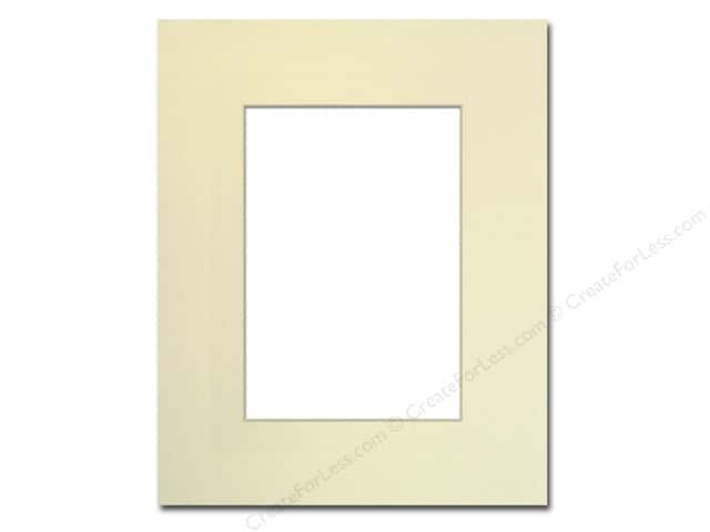 Pre-cut Photo Mat Board by Accent Design Cream Core 8 x 10 in. for 5 x 7 in. Photo Ivory