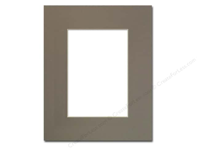 PA Framing Pre-cut Photo Mat Board Cream Core 8 x 10 in. for 5 x 7 in. Photo Cobblestone