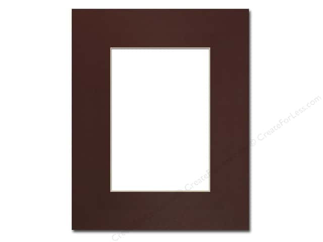 Pre-cut Photo Mat Board by Accent Design Cream Core 8 x 10 in. for 5 x 7 in. Photo Maroon