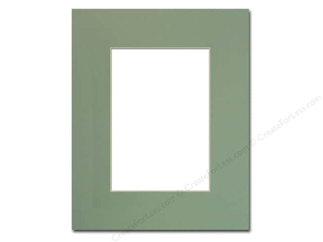 Pre-cut Photo Mat Board by Accent Design Cream Core 8 x 10 in. for 5 x 7 in. Photo Sea Foam