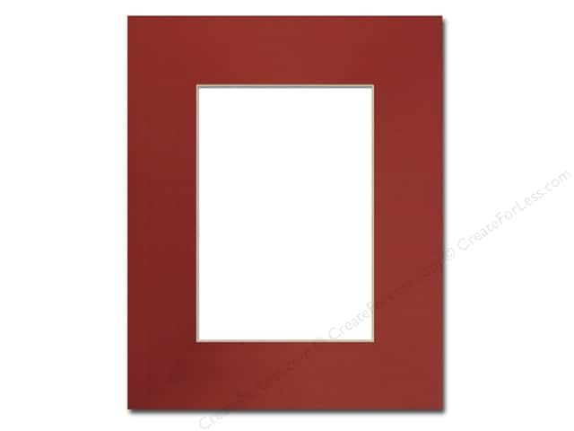 Pre-cut Photo Mat Board by Accent Design Cream Core 8 x 10 in. for 5 x 7 in. Photo Deep Red