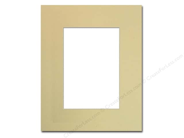 Pre-cut Photo Mat Board by Accent Design Cream Core 8 x 10 in. for 5 x 7 in. Photo Beach