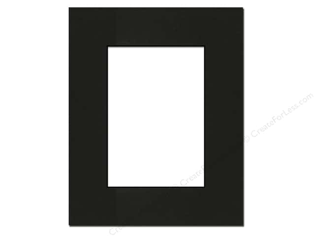 PA Framing Pre-cut Photo Mat Board Black Core 8 x 10 in. for 5 x 7 in. Photo Black