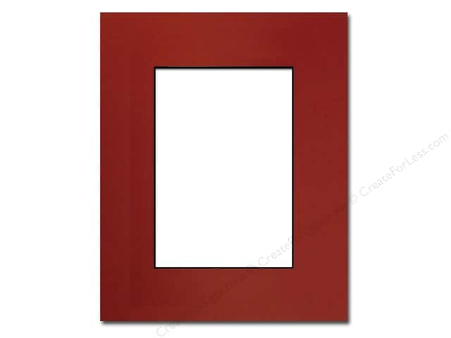 Pre-cut Photo Mat Board by Accent Design Black Core 8 x 10 in. for 5 x 7 in. Photo Deep Red