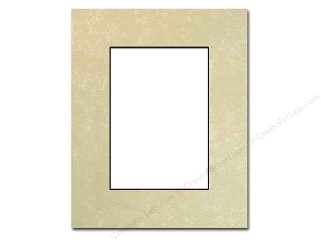 PA Framing Pre-cut Photo Mat Board Black Core 8 x 10 in. for 5 x 7 in. Photo Crystal Marble