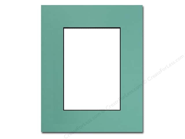 Pre-cut Photo Mat Board by Accent Design Black Core 8 x 10 in. for 5 x 7 in. Photo Aquamarine