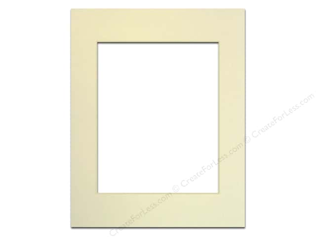 Pre-cut Photo Mat Board by Accent Design Cream Core 11 x 14 in. for 8 x 10 in. Photo Ivory