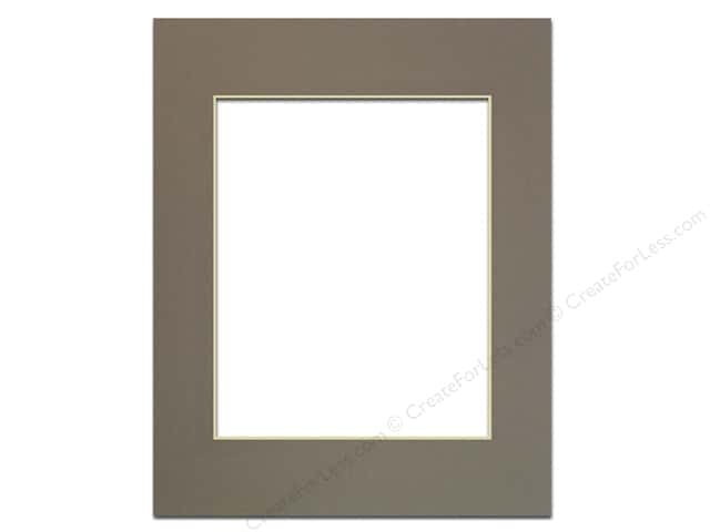PA Framing Pre-cut Photo Mat Board Cream Core 11 x 14 in. for 8 x 10 in. Photo Cobblestone