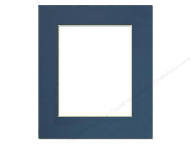 Pre-cut Photo Mat Board by Accent Design Cream Core 11 x 14 in. for 8 x 10 in. Photo Bottle Blue
