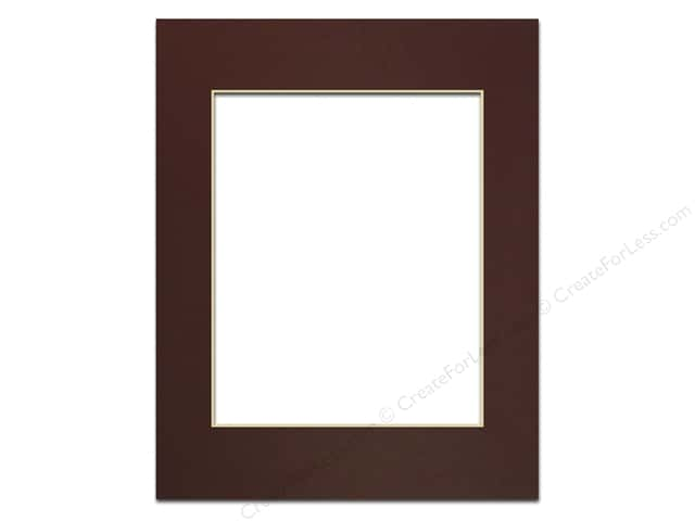 Pre-cut Photo Mat Board by Accent Design Cream Core 11 x 14 in. for 8 x 10 in. Photo Maroon