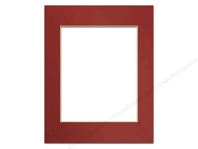 Pre-cut Photo Mat Board by Accent Design Cream Core 11 x 14 in. for 8 x 10 in. Photo Deep Red