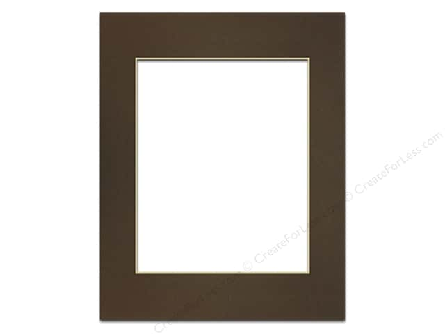 Pre-cut Photo Mat Board by Accent Design Cream Core 11 x 14 in. for 8 x 10 in. Photo Cappuccino