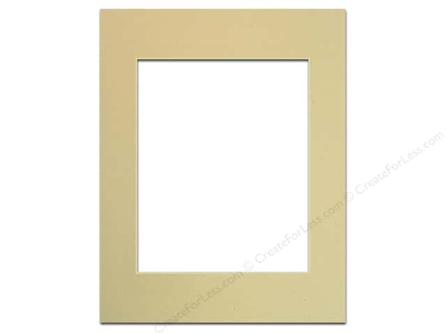 PA Framing Pre-cut Photo Mat Board Cream Core 11 x 14 in. for 8 x 10 in. Photo Beach