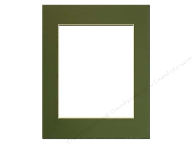 Pre-cut Photo Mat Board by Accent Design Cream Core 11 x 14 in. for 8 x 10 in. Photo Dill