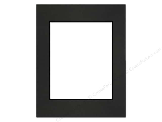 Pre-cut Photo Mat Board by Accent Design Black Core 11 x 14 in. for 8 x 10 in. Photo Black