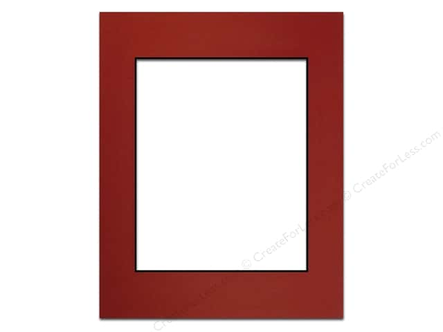 Pre-cut Photo Mat Board by Accent Design Black Core 11 x 14 in. for 8 x 10 in. Photo Deep Red