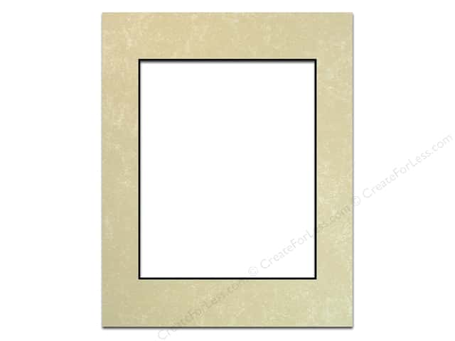 Pre-cut Photo Mat Board by Accent Design Black Core 11 x 14 in. for 8 x 10 in. Photo Crystal Marble
