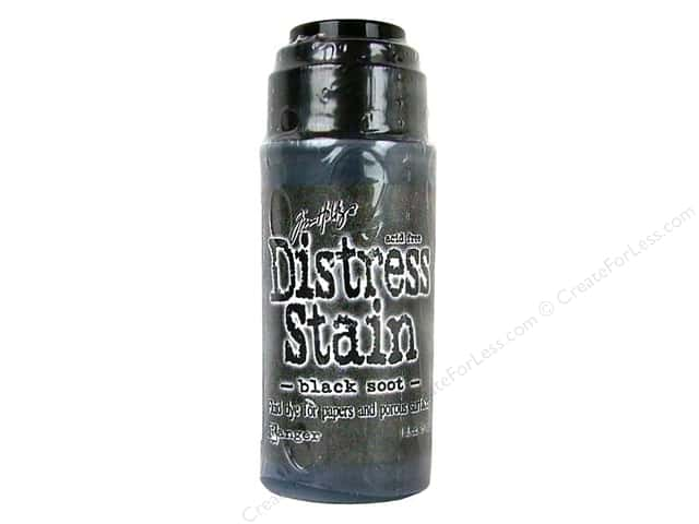 Tim Holtz by Ranger Distress Stain 1 oz. Black Soot