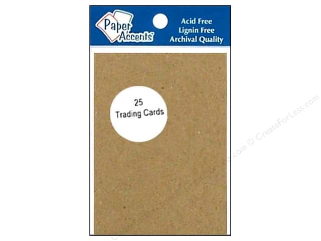 Trading Cards by Paper Accents 2 1/2 x 3 1/2 in. Chipboard 25 pc.