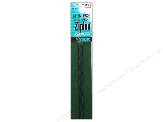 YKK Ziplon Coil Zipper 14 in. Dark Green